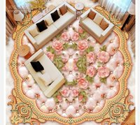 carta da parati personalizzata photo pavimento in marmo 3D stereoscopico piano rose 3D carta da parati 3d murale in PVC piano di auto-adesione wallpaer 20.159.840