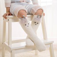Wholesale Protecting Animals - New Autumn Winter Coral Fleece Socks Baby Girls Boys Socking Cow Cat Goat Lovely Kids Socks Warmer Leg Protect For 0-3Y Babies A8044
