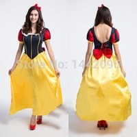 Wholesale Costumes For Short Women - Princess Snow White Costume Halloween Costumes For Women Fantasia Infantil Girl Cosplay Costume Halloween Cosplay Dress