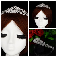 Wholesale Cheap Hair Accessories For Wedding - Best Selling! Princess Tiaras & Hair Accessories For Bridal Head Wear Crystal Beaded Wedding Prom Evening Party Head Crowns 2016 Cheap