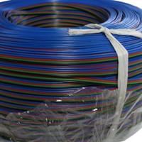 ingrosso 4pin rgb led-100M / lotto 4pin cavo led accessaries uso per 5050/3528 RGB led strip collegare cavo RGB 4 pin cavo di collegamento
