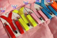 clips de niña de fábrica al por mayor-DHL free-Kids straps Toddlers Suspender Clip-on Y-Back Niños Niñas Niños Elástico Wedding Suspender Factory Sale 27 Colores