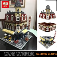 Wholesale Corner Kit - IN STOCK DHL Lepin 15002 2133Pcs Clone City Street Make Create Cafe Corner Model Building Kits Set Blocks Clone 10182