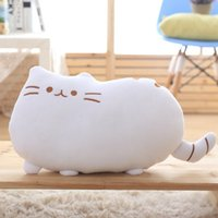 Wholesale kawaii cushion - 40x30cm Pusheen Cat Plush Toys Stuffed Animal Doll Animal Pillow Toy Pusheen Cat For Kid Kawaii Cute Cushion Brinquedos Gift