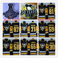 Wholesale Youth Hockey Cup - Kids Boys 2017 Stanley Cup Final Champions Pittsburgh Penguins Youth Hockey Jersey 87 Sidney Crosby 59 Jake Guentzel71 Malkin Lemieux Letang
