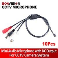 Wholesale Dvr Security Microphone - 10pcs* CCTV Wide Range Mini Audio Microphone for Security Camera Audio Surveillance DVR