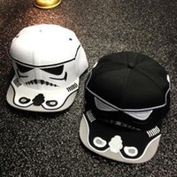 Wholesale Korean Stars Cap - Star Wars Flat-Brimmed Hat 2016 New Korean Graffiti Baseball Cap Personalized Cartoons Embroidery Men And Women Hip-Hop Hat