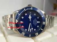 bracelet de calendrier achat en gros de-Hommes montres de haute qualité 42mm 25600 cadran bleu Asie 2813 Calendrier en acier inoxydable bracelet automatique Mens Watch montres