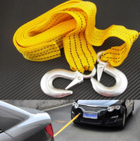 Wholesale Heavy Duty Towing - 3 Tons Car Tow Cable Towing Strap Rope with Hooks Emergency Heavy Duty 6 FT Newest Good Quality Brand New Free Shipping