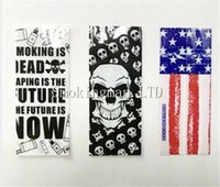 Wholesale sony sticker for sale - Group buy DHL Free Battery Wrap Paper Flag Skull Style Rechargeable Batteries Shrink Sticker Wrapper for LG HG2 Samsung R Q Sony VTC6 VTC5