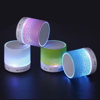 Wholesale Light Stones Wholesale - A9 mini speaker LED flash light stone pattern Wireless portable bluetooth speakers subwoofers support TF card FM radio For IPhone Samsung