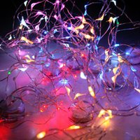 Wholesale pink corn - 2m Led String 20leds Flower Christmas Lights Submersible Strings Copper Wire Various Shape Fairy Lights Corn Battery for Party Xmas Wedding