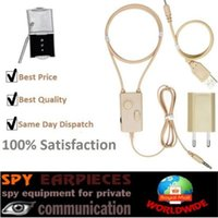 Wholesale Spy Neckloop - SPY Invisible Earpiece Earhone 3Watt Induciton Inductive Neckloop Neckband Micro Nano Covert Ear Bud