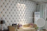 Wholesale wall paper leather - 10 meter lot Faux leather soft bag 3d wallpaper PVC white bedside sofa tv background wall wallpaper papel de parede