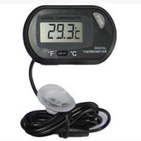 Wholesale Water Tank Digital Thermometer - 2016 new LCD Digital Fish Tank Aquarium Thermometer Temperature Water Terrarium Black Aquariums Aquariums & Fish free shipping
