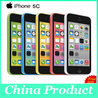 "Wholesale 5c Unlock - Original Unlocked iPhone 5C Cell phones 8GB 16GB 32GB dual core WCDMA+WiFi+GPS 8MP Camera 4.0"" Mobile Phone with sealed box"