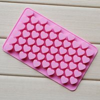 Wholesale Silicone Cupcake Soap - Hearts Silicone Ice Cube Candy Chocolate Cake Cookie Cupcake Soap Molds Mould DIY Mold