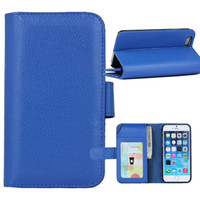 Wholesale Leather Flip Iphone 4s Cases - For iphone 6 5 5S 4G 4S 6Plus Wallet Leather Case Multifunctional Phone Cover with 7 Card Slot Flip Stand Photo Frame