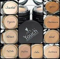 Wholesale Mineral Foundation Matte - In Stock Moodstruck Minerals Touch Cream Foundation Pressed Powder Fond DE TEINT CREME 0.46OZ 13g 10Colors DHL Free