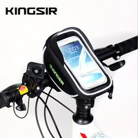 Wholesale Bicycle Bars High - Touchscreen Bicycle Front bag Tactile High Vision Bicycle Bag Foldable High-End Fabrics Touchscreen Bicycle Front bag