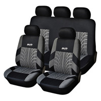 Wholesale Best Car Tires - Best Quality Hot Sale Polyester Fabric Universal Car Seat Cover Fit Most Cars with Tire Track Detail Car Styling Car Seat Protector