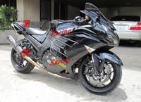 Wholesale Zx14r Custom Paint - Painted all black custom injection molding fairing Kawasaki ZX-14R Ninja 2012-2013 1 3