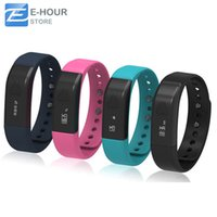 Wholesale Display I5 - Original iwown I5 Bluetooth Smart Bracelet Activity Wristband Intelligent Sports Watch Step Gauge Sleep Track Caller ID display