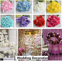 Wholesale Amazing Birthday Decorations - Wholesale 300pcs lot luxury artificial Hydrangea silk flower Amazing colorful decorative flower for wedding party Birthday decoration
