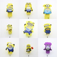 Brand New 3D Eye méprisé Me Snap Mr minion montres Enfants Kids Slap Snap On Silicone Quartz Montres-bracelets