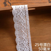 Wholesale Bilateral Lace - High Quality Bilateral 20m 50mm 48mm Various Styles White Cotton Lace Belt Decoration Ribbon For DIY Scrapbooking wedding Decoration ML-04