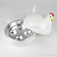 Wholesale Chicken Steamer - NEW Chicken Shaped Microwave 4 Eggs Boiler Cooker NOVELTY Kitchen Cooking Appliances Steamer Home Tool A3