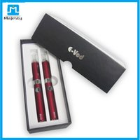 Wholesale Double Ecigarette - EVOD vape pen double EVOD starter kit ecigarette with mt3 BCC Atomizer vaporizer Dual Gift box kit e cig dhl free shipping
