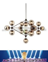 Lustres en verre Jason Miller MODO Chandelier droplight (2/3/5/10/15/21-chefs) Salon Pendentif Applique éclairage Light For restaurant