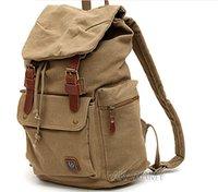 ingrosso uomini dello stile coreano dello zaino-Lo zaino di stile preppy zaino in tela borse borsa di tela casuale borsa da viaggio zaino borsa studenti coreani