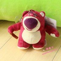 Wholesale Toy Story Strawberry Bear - Wholesale-Toy Story 3 strawberry bear laosou bear Buzz Lightyear Hu Disan eyes plush toy doll pendants