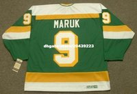 vendita all'ingrosso personalizzato Throwback Mens DENNIS MARUK Minnesota North Stars 1983 CCM Vintage Throwback Cheap Retro Hockey Jersey