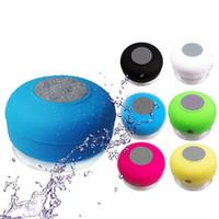 Wholesale Audio Vibration - Waterproof Wireless Bluetooth Speaker Dustproof Shower Car Handfree Mini Speakers Suction IPX4 Bathroom Call Vibration MP3 Player Mic BTS-06