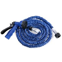 Wholesale watering hose free shipping for sale - FT Plastic Green Blue Water Spray Nozzle Sprayers Triple Expandable Flexible Water hose Garden Pipe Set Car washing