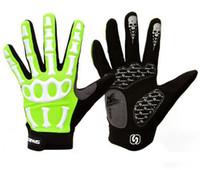 Wholesale Skeleton Long Glove - Wholesale-SPAKCT Bike Bicycle Riding Cycle Long Finger Full Finger Cycling Riding Racing Gloves - Skeleton XS-2XL