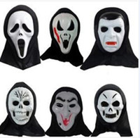Wholesale terror mask face - 50pcs Final Destination horror outcry mask Skull mask Ghost Face Mask Cosplay Hallowen terror face spirit festival mask D368
