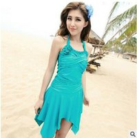 Wholesale Cheap Swimsuits Skirts - Ladies Skirts Womens One Piece Swimsuits With Skirts Cheap Cute Bathing Suits Modest Swim Wear Juniors Plus Size Monokini Jumpsuits