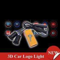 Wholesale Car Shadow Ghost Light - 3D LOGO LIGHT 7W Cree Led Car Laser Logo Light Ghost Shadow Light Projector Door Lamp for Opel BMW FOCUS 1pair