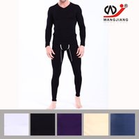 Wholesale Thermal Underwear Wholesalers - 2016 WJ men's Thermal Underwear Suit For Men Long Jhons Home Dress Suits Tight Slim 4 color available Size M L XL long johns for men