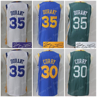 Wholesale Kevin Durant Signed - GSW 2018 New The Town Basketball Jersey Men Women Youth,Signed Retro Kids,30 Stephen Curry 35 Kevin Durant,KD SC USA Throwback All Star