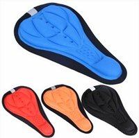 Wholesale Silicone Seat Cover - 1pcs free shipping Bicycle Saddle Seat Cover 4 Color Comfortable 3D Silicone bike Gel Cycling Seat Cover pad