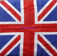 Wholesale Hot sale good qaulity UNITED KINGDOM UK Union Jack Britain Flag Bandana Scarve Scarf Head Neck Wrap