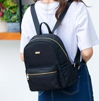 plain black backpack achat en gros de-50pcs min mode sac à dos noir dame oxford simple sac sac plaine