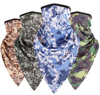 Barato Máscara De Proteção Da Motocicleta-Digital camo 100pcs mascara atacado novo Outdoor Protection Full Face Balaclava Headwear Ski Neck Cycling motocicleta Máscara