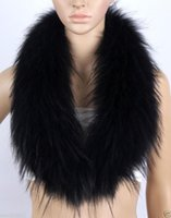 Wholesale Real Fur Shawl Shrug - Real fox racoon fur Collar stole Neck Warmer Wrap shrug Scarves scarf shawl cape