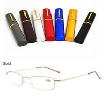 Wholesale Case Da - Presbyopic Glasses Pen Shape Case Occhiali Da Lettura Lesebrillen +1.50 +2.00 +3.00 +3.50 +4.00 Diopter Points Reading Glasses